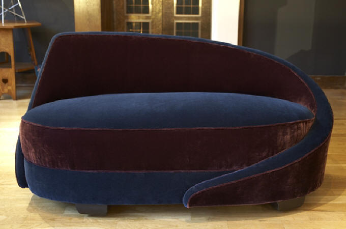 1930's Curved Chaise