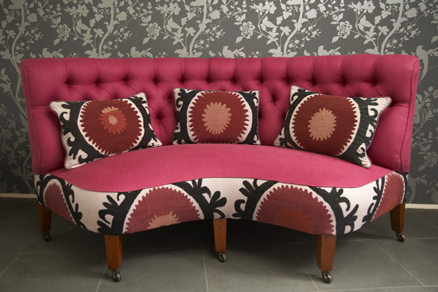Chaise with Vintage Susani