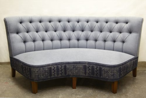 'New Vintage' Chaise with Batic from Laos