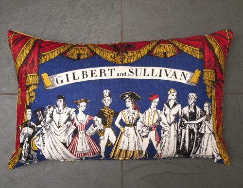 Vintage 'Gilbert & Sullivan' Cushion