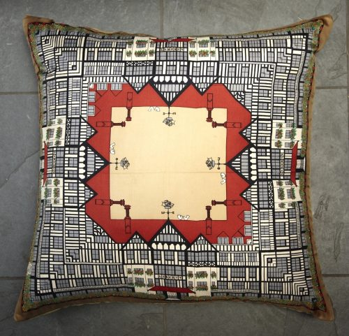 Vintage Liberty Shop Scarf Cushion