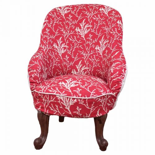Coral Printed Bedroom Chair
