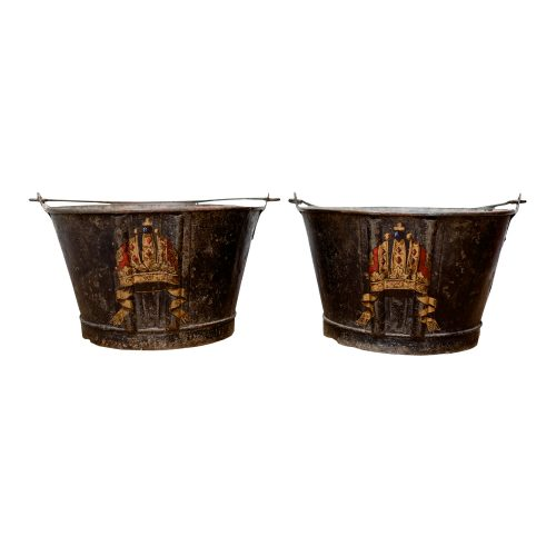 Pair of Antique Fire Buckets